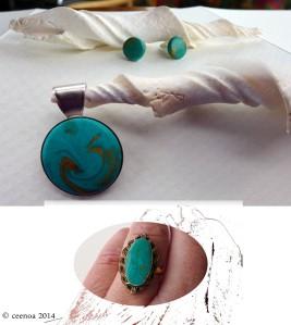 Aqua stitched