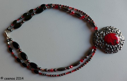 double strand red glass (2)