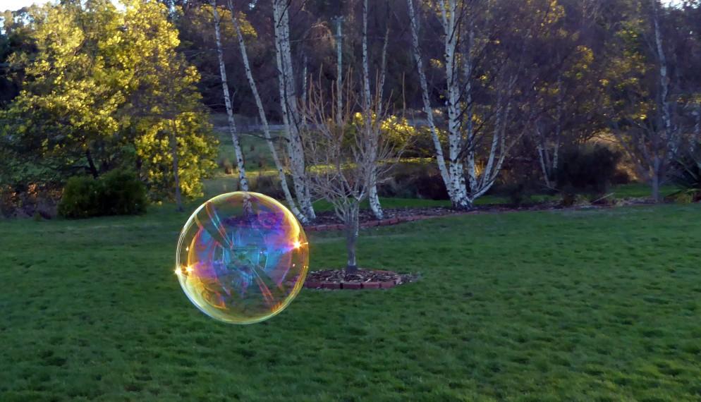 evening bubbles