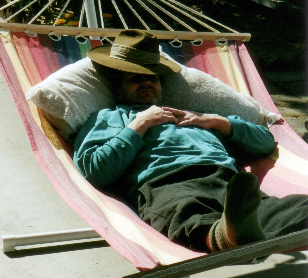 dad in hammock