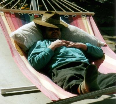 dad in hammock
