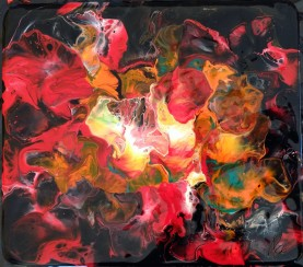Acrylic Paint on Tablemat